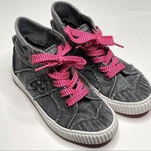Blowfish Malibu Raw Edge Mid Top Sneaker Shoe